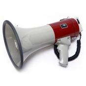 Terrasound MG-220DSW Мегафон ручной наплечный 25Вт, выносной микрофон, сирена, разъем внешнего питания 12В