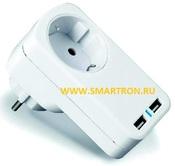 Тройник МАСТЕР КИТ «220 В + 2 USB», Модель: KIT MT4012