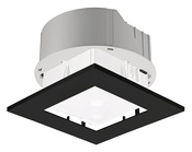 Theben PlanoSet RQ EBK, монтажный набор, для установки датчиков PlanoCentro, рамка-квадрат, черная (9070737)