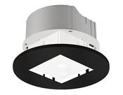 Theben PlanoSet RR EBK, монтажный набор, для установки датчиков PlanoCentro, рамка-круг, черная (9070741)