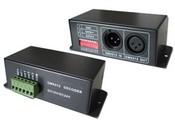 DMX 3-х канальный драйвер,  6-24V DC, 360W, 15A LED RGB DMX decoder Euchips PX24501