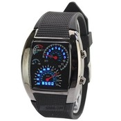 "31 Век Rain-21203-01 Бинарные часы наручные ""Спидометр"" black"