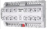Многофункциональный релейный модуль KNX MAXinBOX16 Plus, 16-канальный, 16DO 16А/140мкФ/230В~, функции управления жалюзи и 2-трубными фанкойлами, 20 логических функций, функции времени, ручное управление, LED индикация, на DIN рейку, 8TE