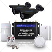 GSM сигнализация Sapsan GSM MMS 3G с датчиками, 2-мя уличными в/камерами, функцией ВИДЕОЗВОНОК. Артикул 3G CAM (Дача++)