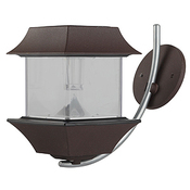 SL-AL22-LTN ЭРА Садовый светильник на солнечной батарее, алюминий, коричневый, 22 см (12/72)