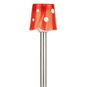 SL-SS36 ЭРА красный Садовый светильник на солнечной батарее, нержавеющая сталь, стальной, цветной, 36 см