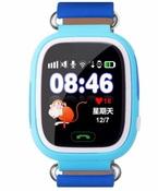 Детские часы с GPS трекером Smart Baby Watch Q80 (TD-02) Blue с сенсорным экраном