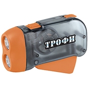 TD2 Фонарь Трофи Динамо 2xLED, L1131, ремешок, карт (24/48/2880)