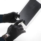 Тёплые сенсорные перчатки для смартфонов из шерсти. Dress Cote Размер M (чёрные)