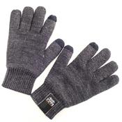 Тёплые сенсорные перчатки для смартфонов из шерсти. Dress Cote Размер M (серые)