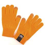 Тёплые сенсорные перчатки для смартфонов из шерсти. Dress Cote Размер S (оранжевые)
