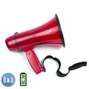 Terrasound ЭМ-10А (красный) громкоговоритель ручной компактный 10Вт, сирена, Li аккумулятор