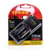 Зарядное устройство ТРОФИ TR-920 AAA компкатное +2 HR03 800mAh