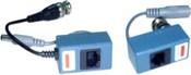 Комплект (передатчик+приемник) НЧ-видеосигнала (на 1 канал) по витой паре. UV-LR204A-B