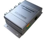Приемо-передатчик НЧ-видеосигнала (4 канала) по витой паре. 4 разъема BNC и разъемы витой пары «под отвертку» + разъем RJ-45. UV-LR214