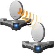 """Радиоретранслятор аудио/видео с ретранслятором ИК ДУ, радио 2.4ГГц в комплекте с коммутационным SCART модулем, дизайн """"треугольник"""", VL88"""