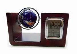 Настольный прибор с часами и глобусом VWG-5534 31ВЕК