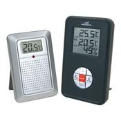 Электронный цифровой термометр - гигрометр с радиодатчиком Wendox W4580 Black