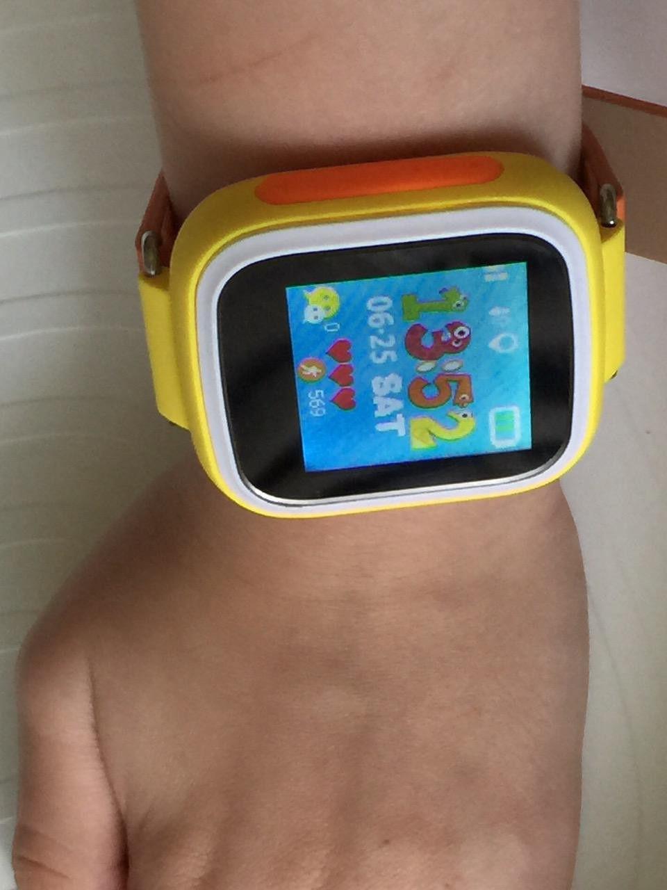 bb620420b1f8 Детские часы с GPS трекером Smart Baby Watch Q80 (TD-02) Orange с ...
